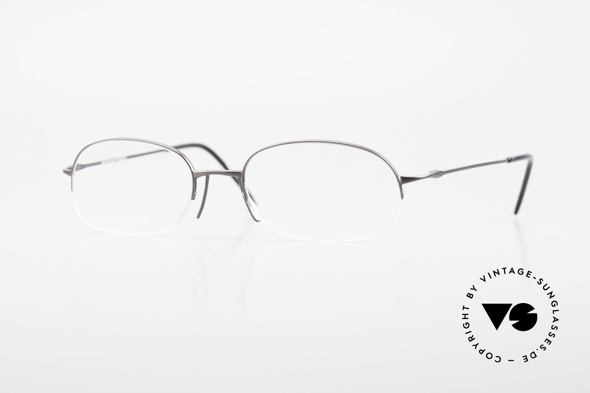 Wolfgang Proksch WP0007 Semi Rimless Titanium Frame, Wolfgang Proksch VINTAGE eyeglasses from 1999, Made for Men
