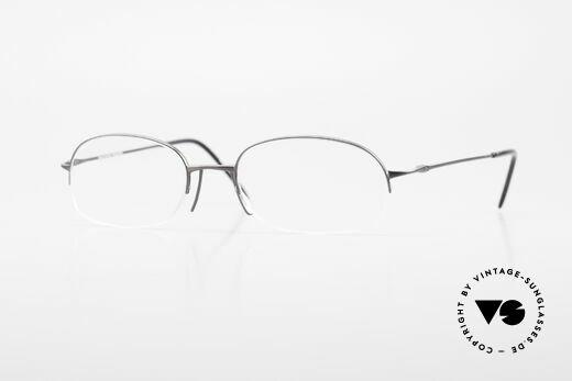 Wolfgang Proksch WP0007 Semi Rimless Titanium Frame Details