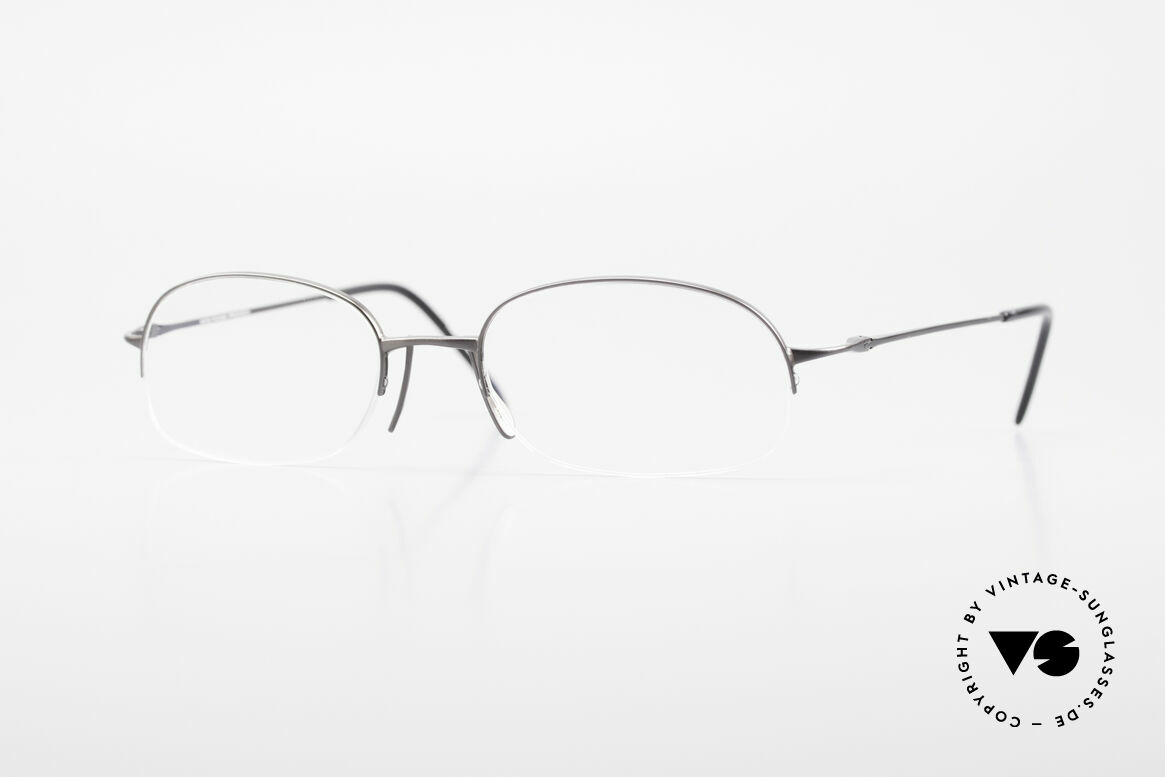 Wolfgang Proksch WP0007 Semi Rimless Titanium Frame, Wolfgang Proksch VINTAGE eyeglasses from 1999, Made for Men