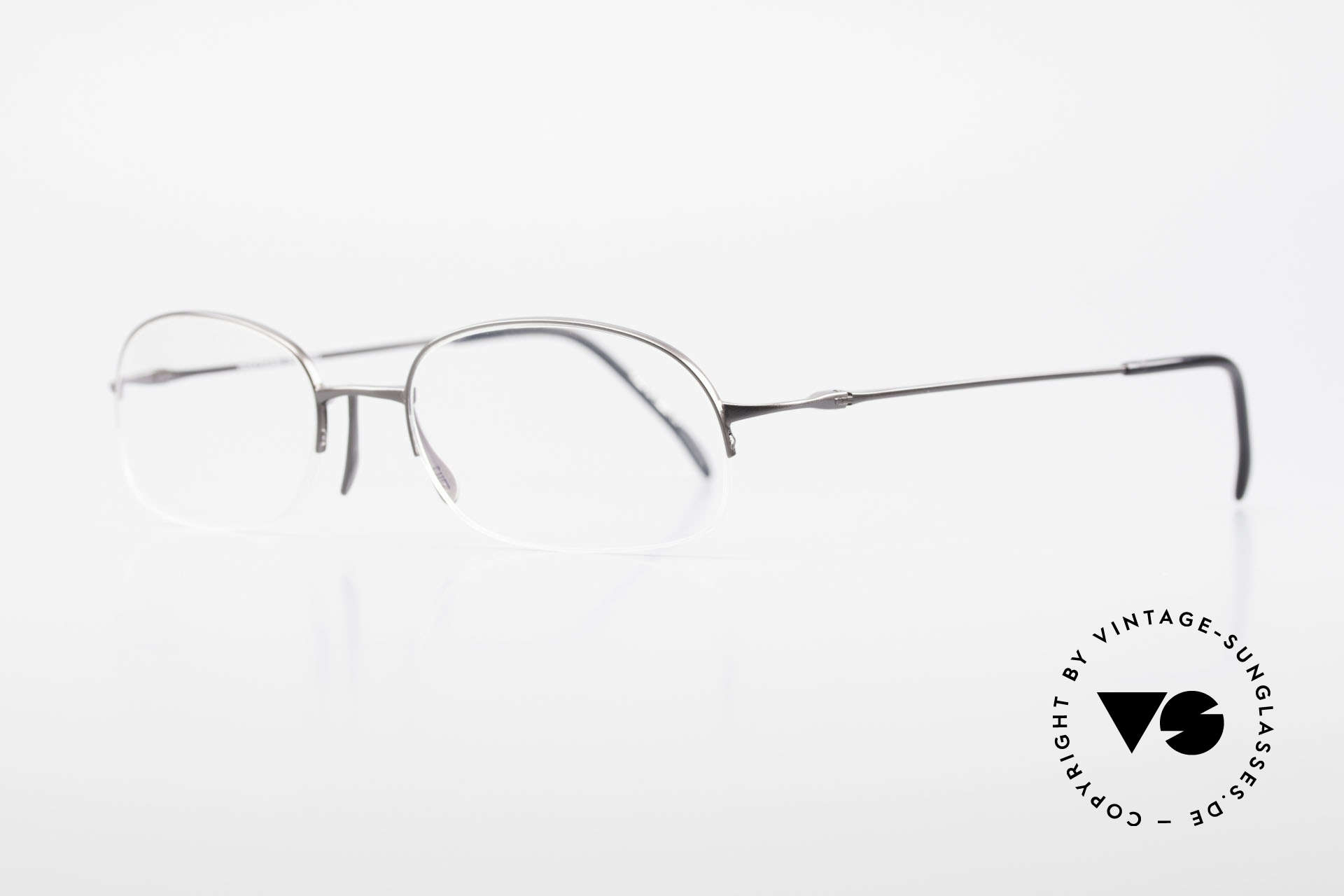 Wolfgang Proksch WP0007 Semi Rimless Titanium Frame, plain frame lines and Japanese striving for quality, Made for Men