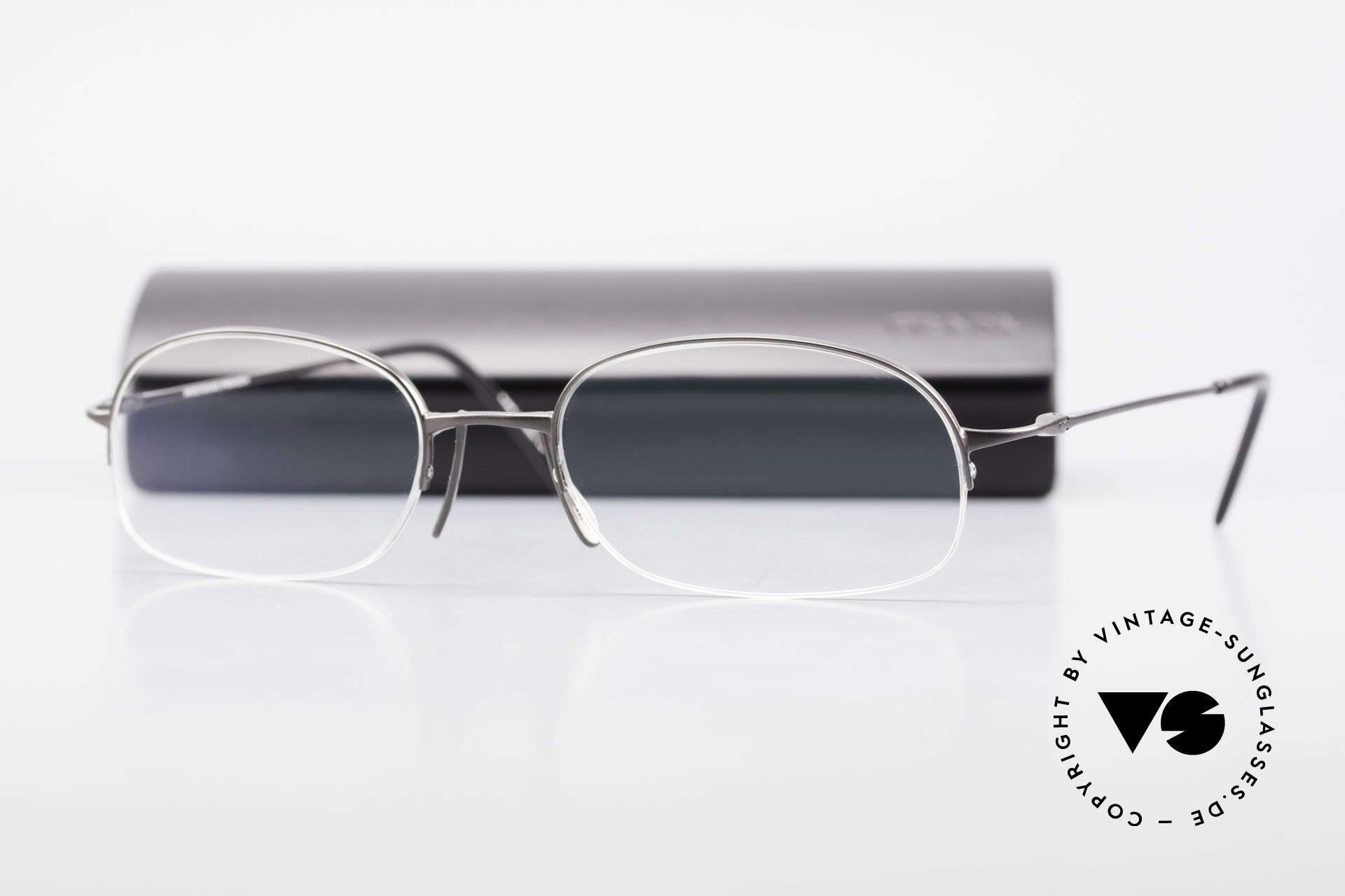 Wolfgang Proksch WP0007 Semi Rimless Titanium Frame, Size: medium, Made for Men