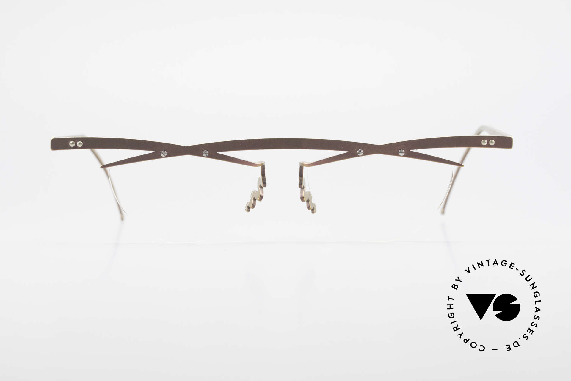 Theo Belgium Tita III 4 Crazy Vintage Glasses XL 90's, founded in 1989 as 'anti mainstream' eyewear / glasses, Made for Men and Women