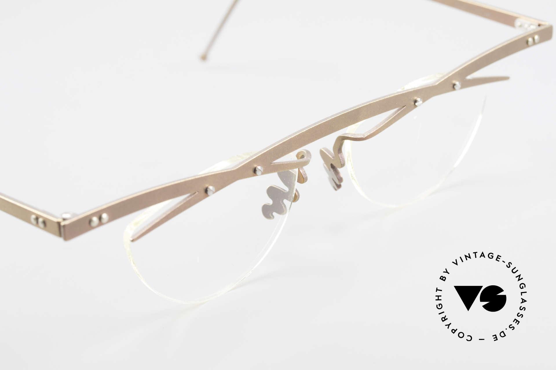 Theo Belgium Tita III 4 Crazy Vintage Glasses XL 90's, an old, unworn THEO original and NO RETRO EYEWEAR, Made for Men and Women
