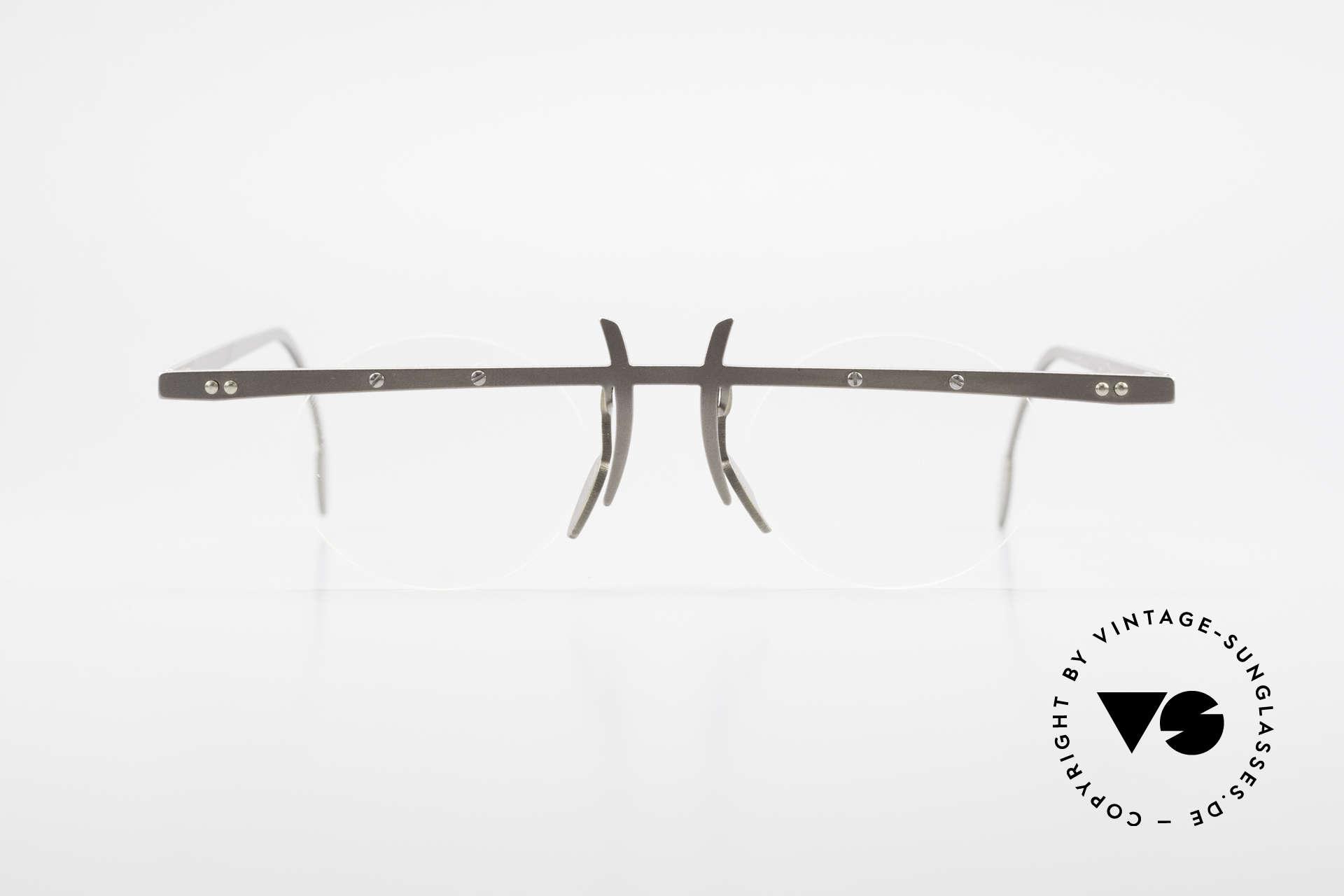 Theo Belgium Tita VI 3 Crazy Eyeglasses Titanium 90s, founded in 1989 as 'anti mainstream' eyewear / glasses, Made for Men and Women