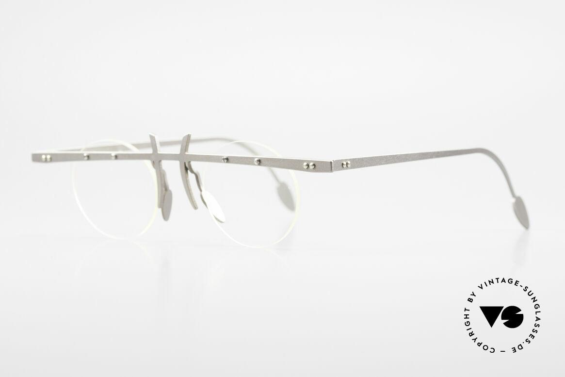 Theo Belgium Tita VI 3 Crazy Eyeglasses Titanium 90s, TITA SERIES = L titanium frames by Theo from the 90's, Made for Men and Women
