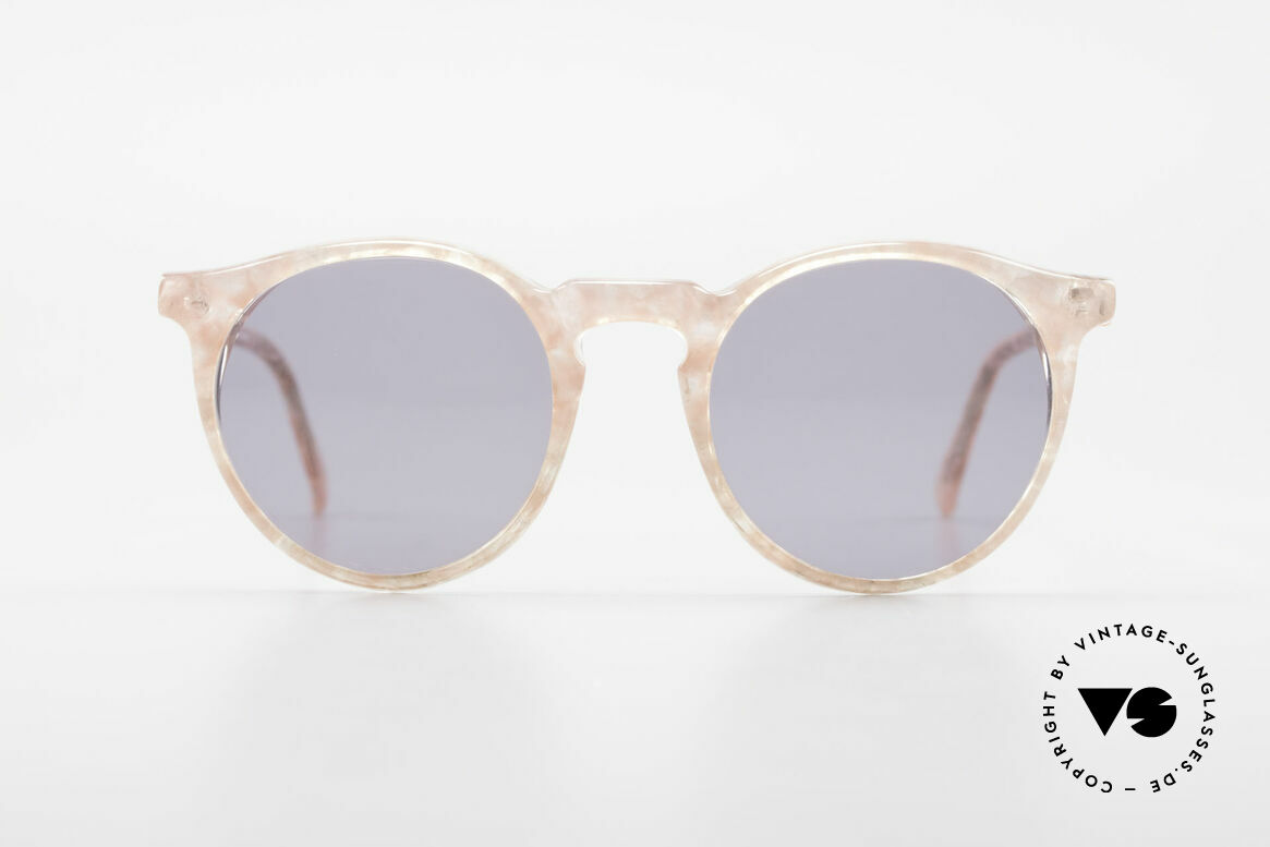 Alain Mikli 034 / 348 80's Panto Sunglasses Ladies, classic 'panto'-design with an interesting pattern, Made for Women