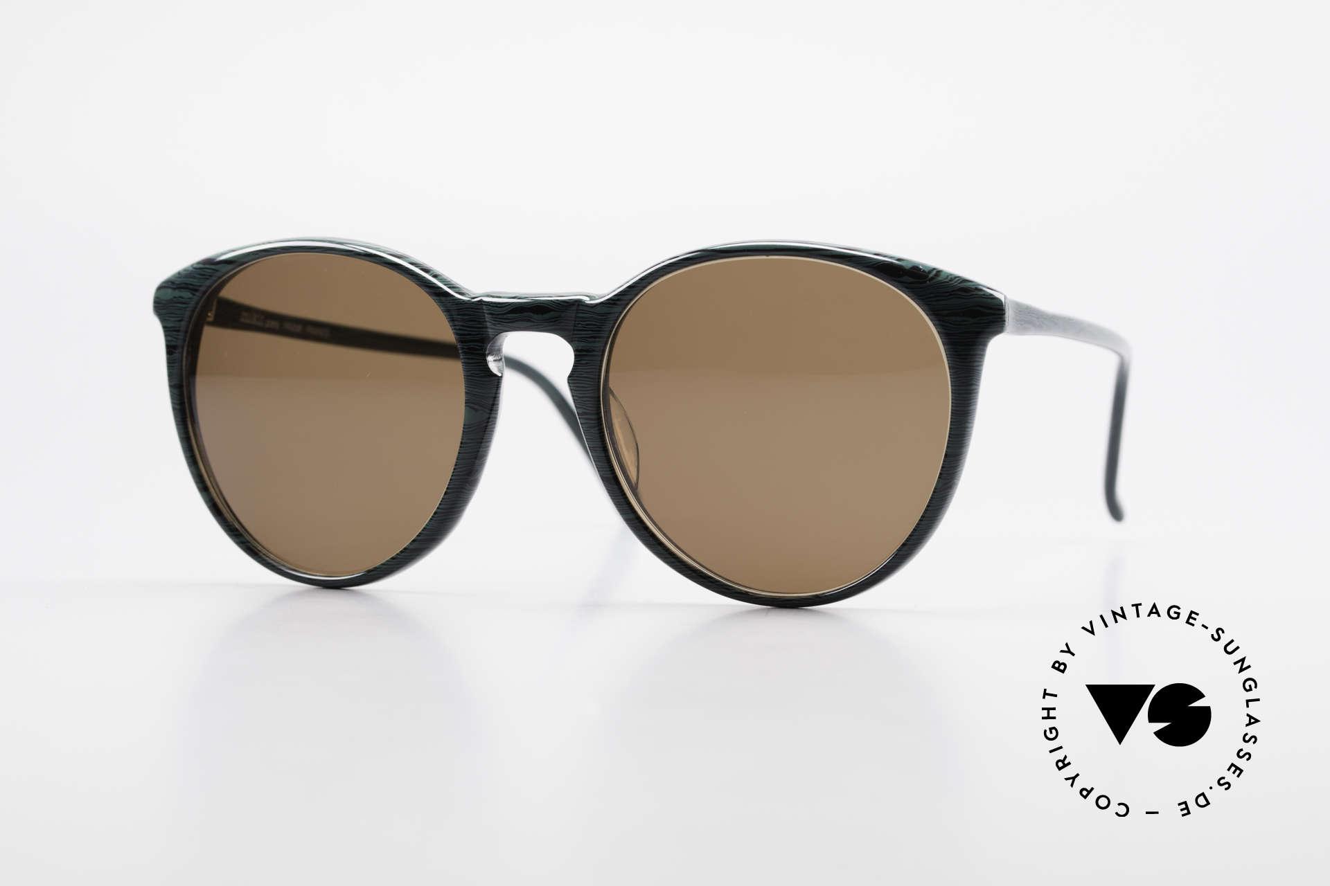 Alain Mikli 901 / 285 Green Marbled Panto Frame, elegant VINTAGE Alain Mikli designer sunglasses, Made for Men and Women