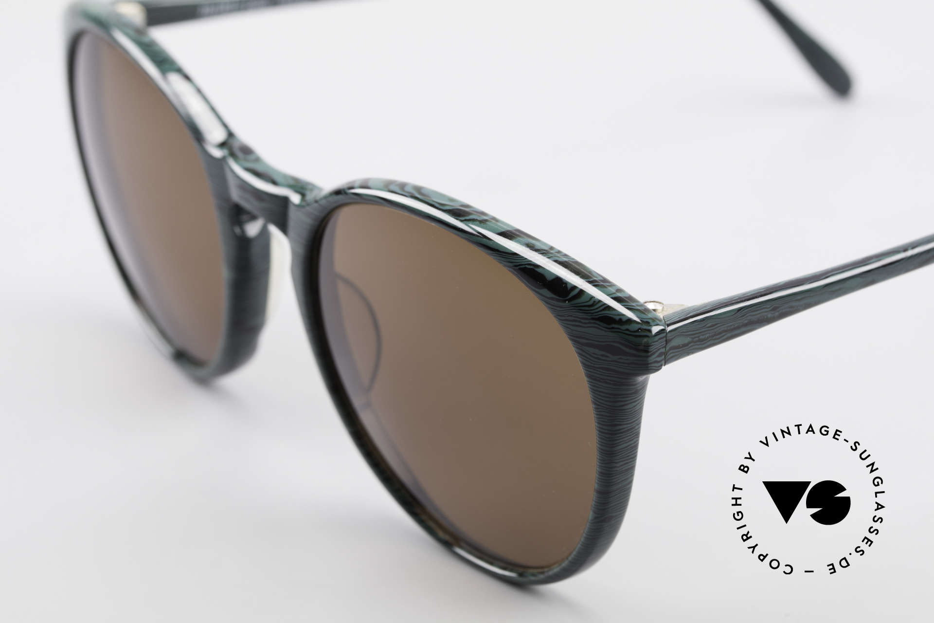 Alain Mikli 901 / 285 Green Marbled Panto Frame, handmade quality and 123mm width = SMALL size!, Made for Men and Women