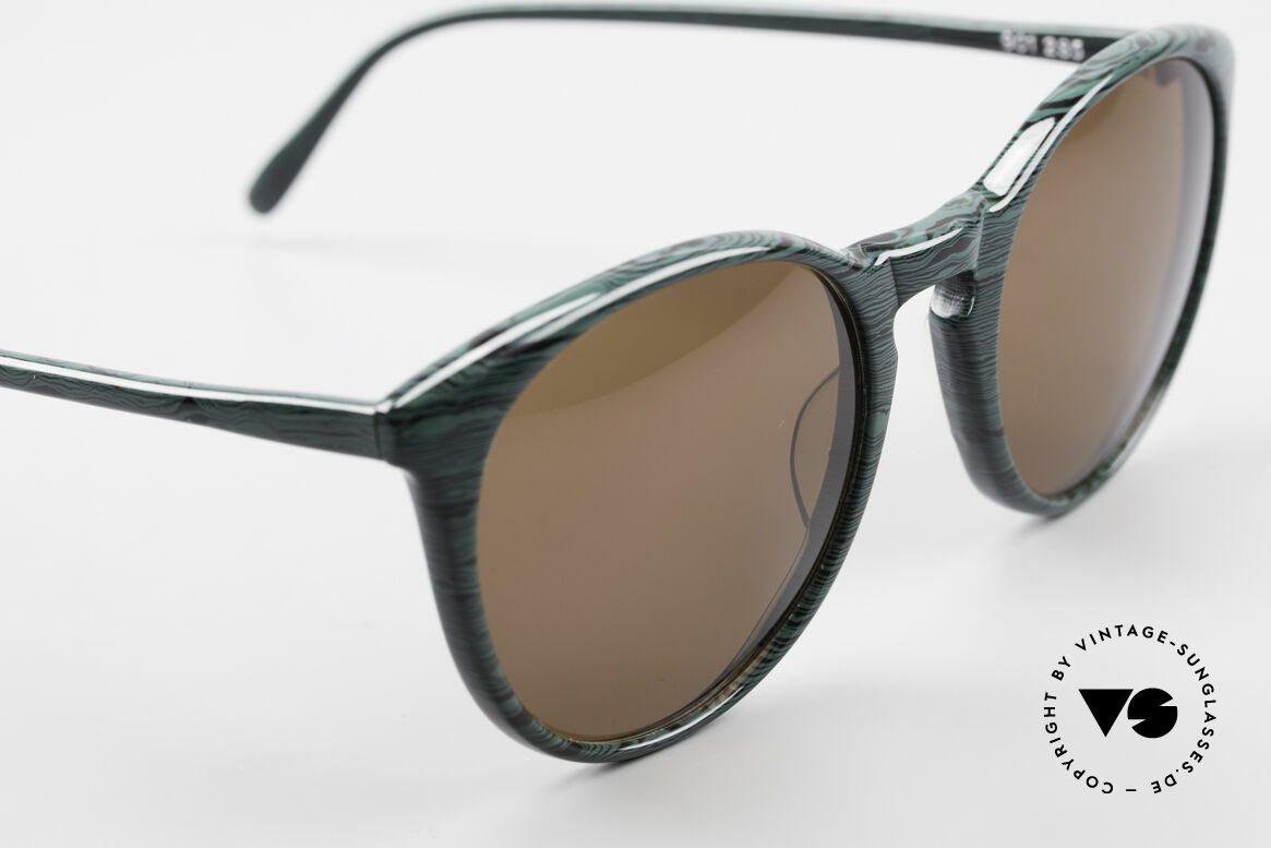 Alain Mikli 901 / 285 Green Marbled Panto Frame, never worn (like all our vintage Alain Mikli specs), Made for Men and Women