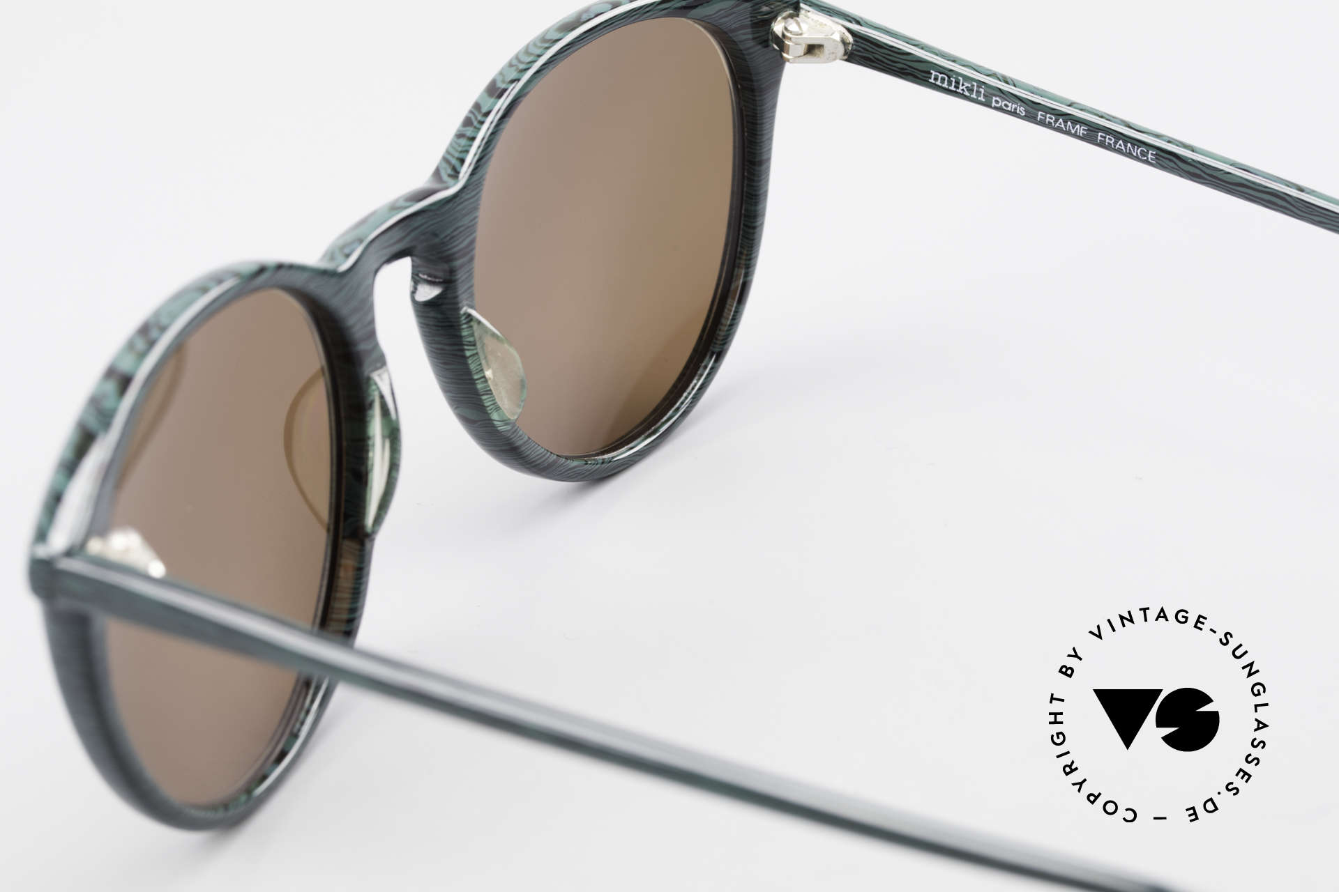 Alain Mikli 901 / 285 Green Marbled Panto Frame, NO RETRO shades, but an old ORIGINAL from 1989, Made for Men and Women