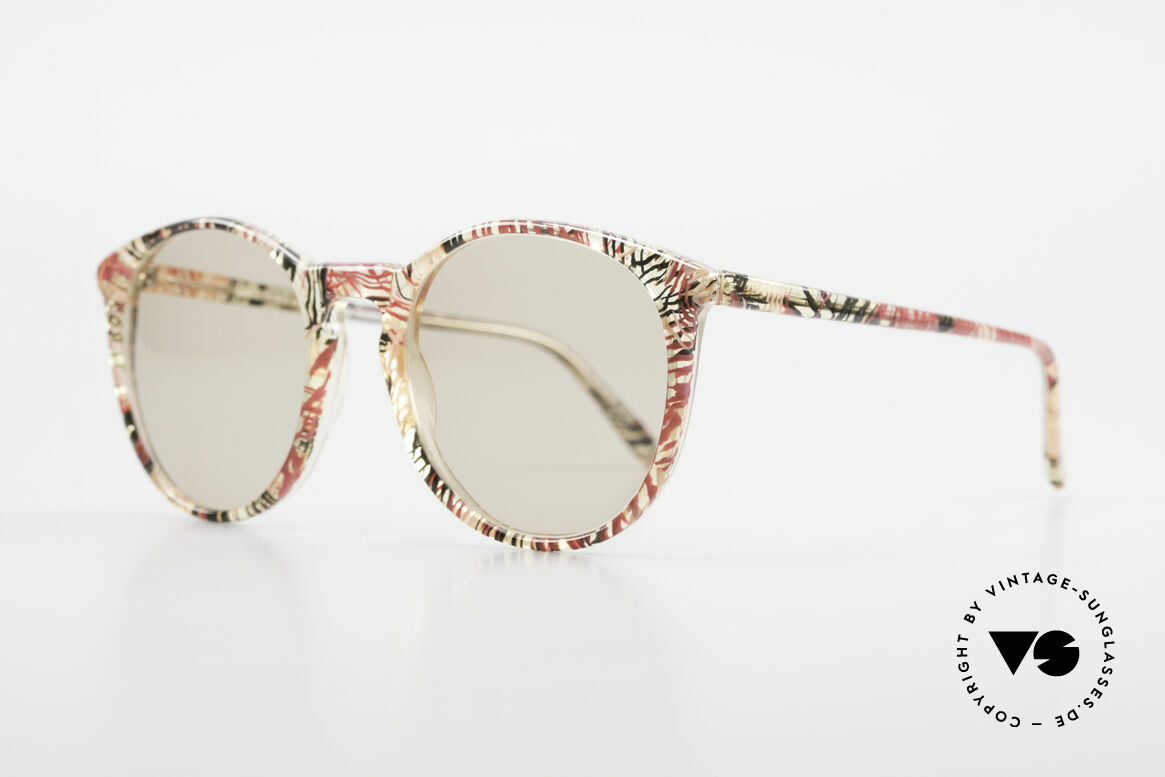 Alain Mikli 901 / 770 Panto Frame Crystal Patterned, terrific frame pattern: crystal / red / black / brown, Made for Men and Women
