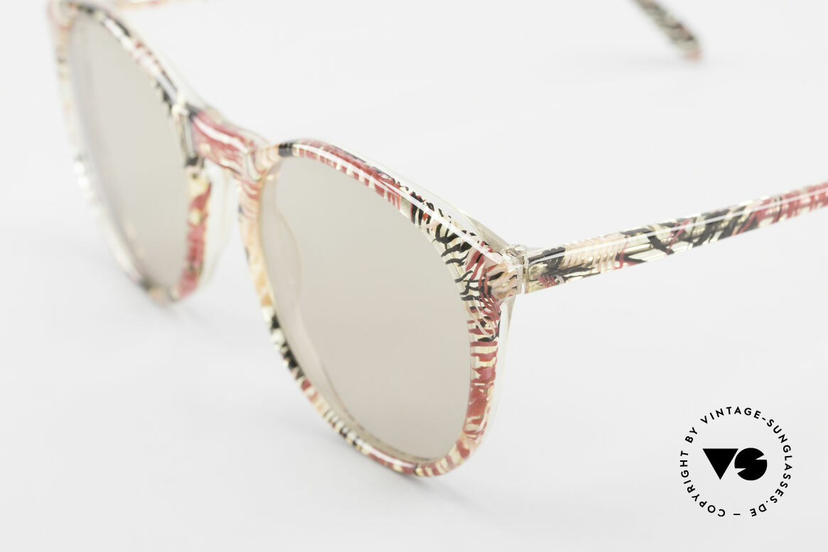 Alain Mikli 901 / 770 Panto Frame Crystal Patterned, handmade quality and 123mm width = SMALL size!, Made for Men and Women