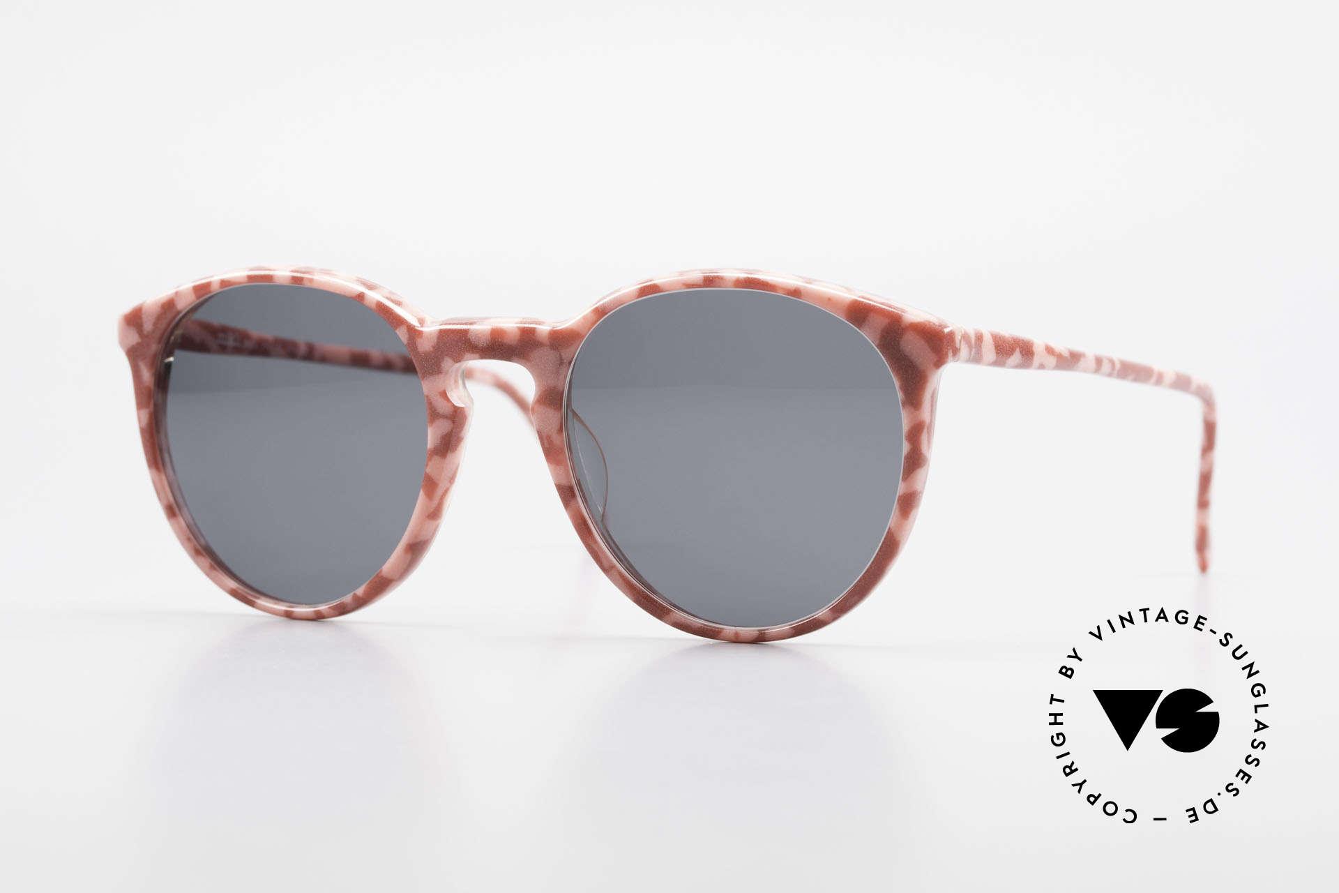 Alain Mikli 901 / 172 Panto Frame Red Pink Marbled, elegant VINTAGE Alain Mikli designer sunglasses, Made for Women