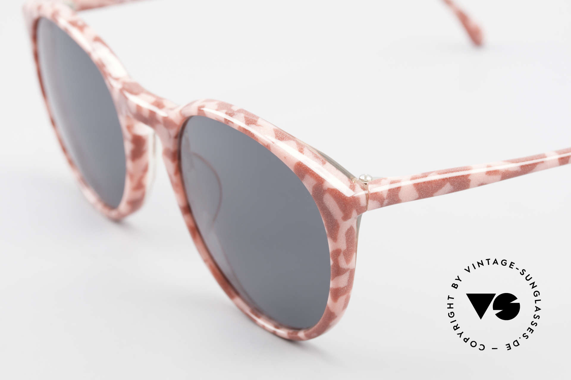 Alain Mikli 901 / 172 Panto Frame Red Pink Marbled, handmade quality and 123mm width = SMALL size, Made for Women
