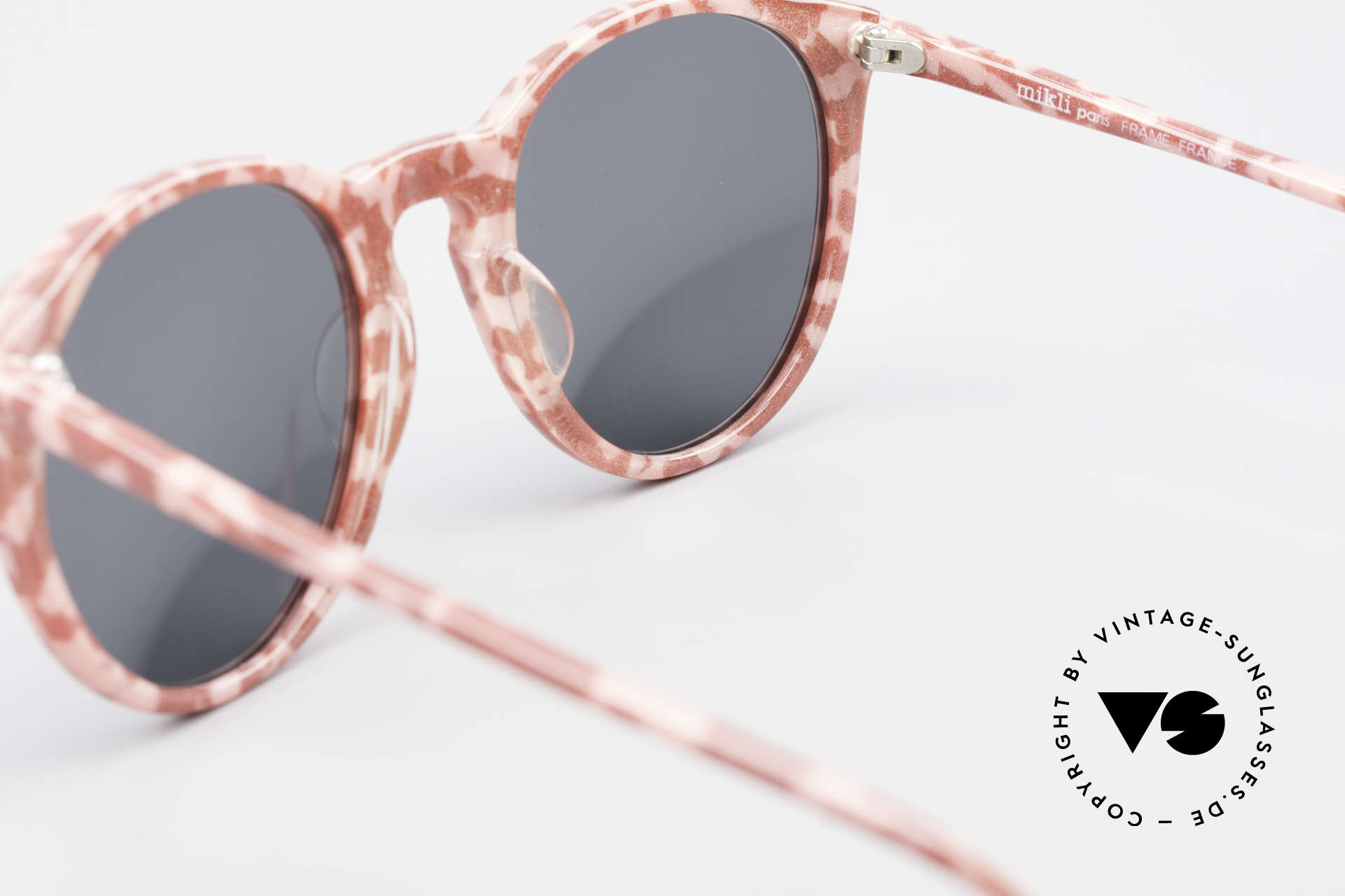 Alain Mikli 901 / 172 Panto Frame Red Pink Marbled, NO RETRO shades, but an old ORIGINAL from 1989, Made for Women