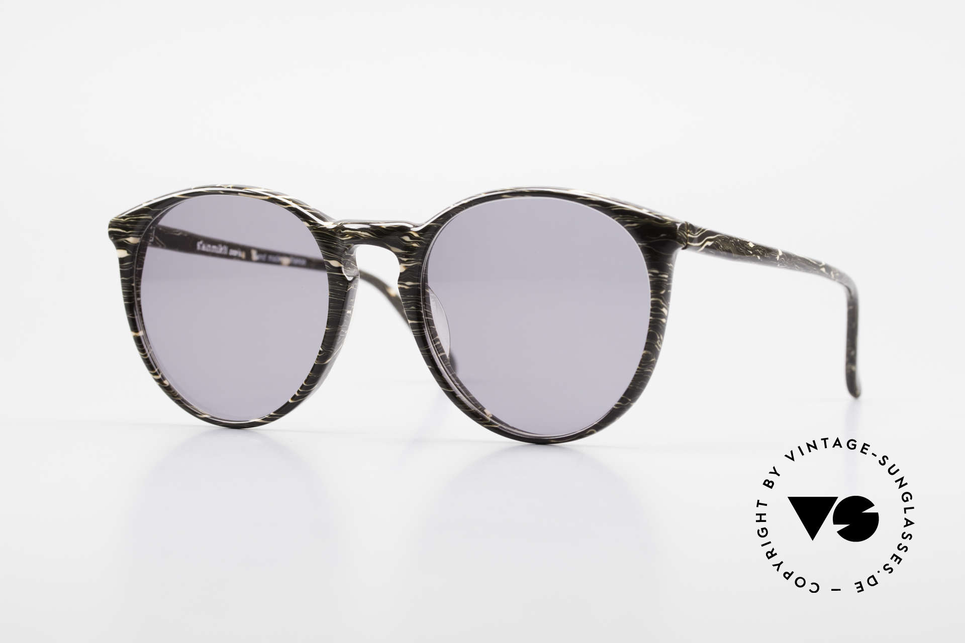 Alain Mikli 901 / 429 Brown Marbled Panto Frame, elegant VINTAGE Alain Mikli designer sunglasses, Made for Men and Women