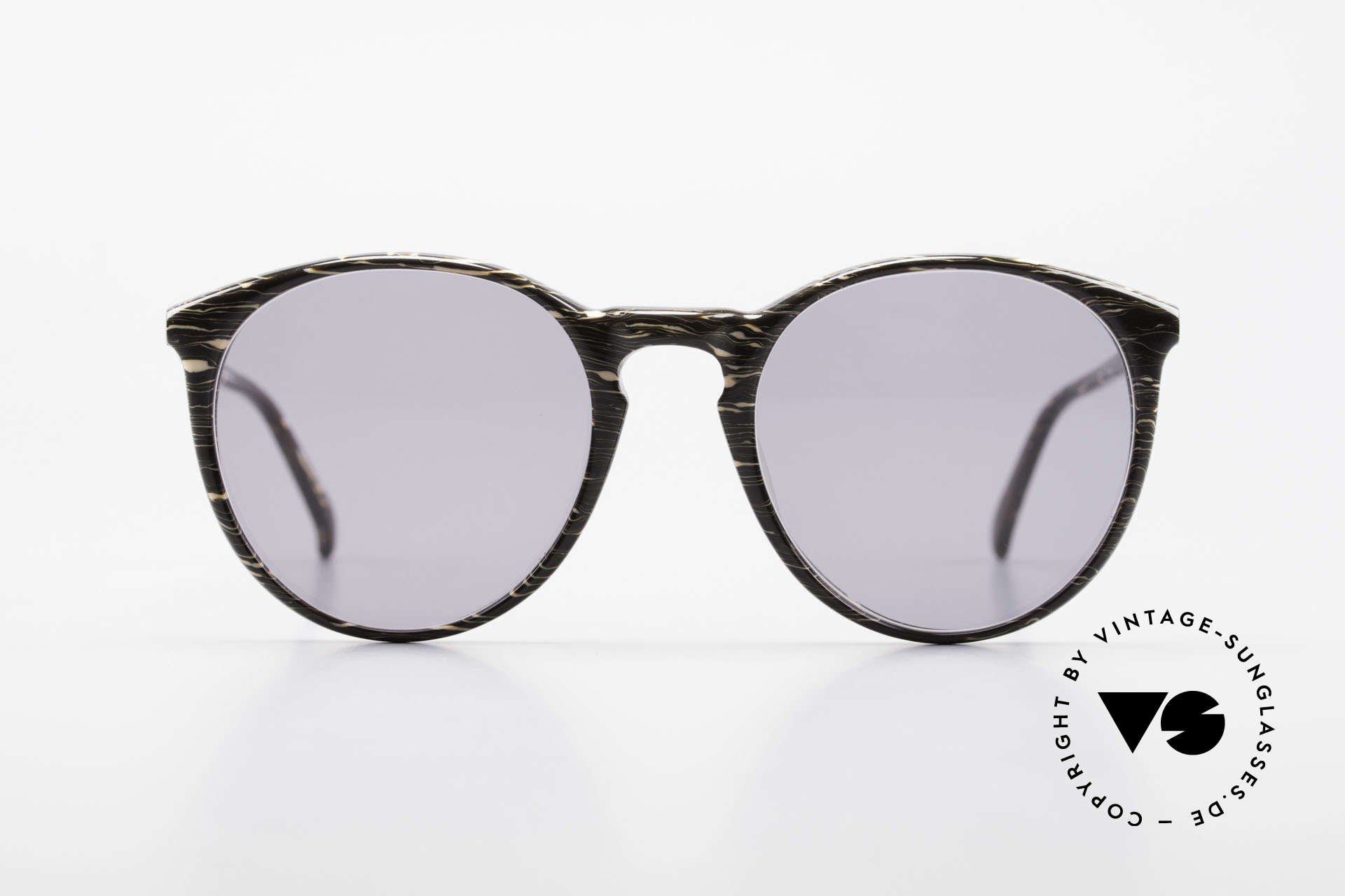 Alain Mikli 901 / 429 Brown Marbled Panto Frame, classic 'panto'-design with solid gray sun lenses, Made for Men and Women