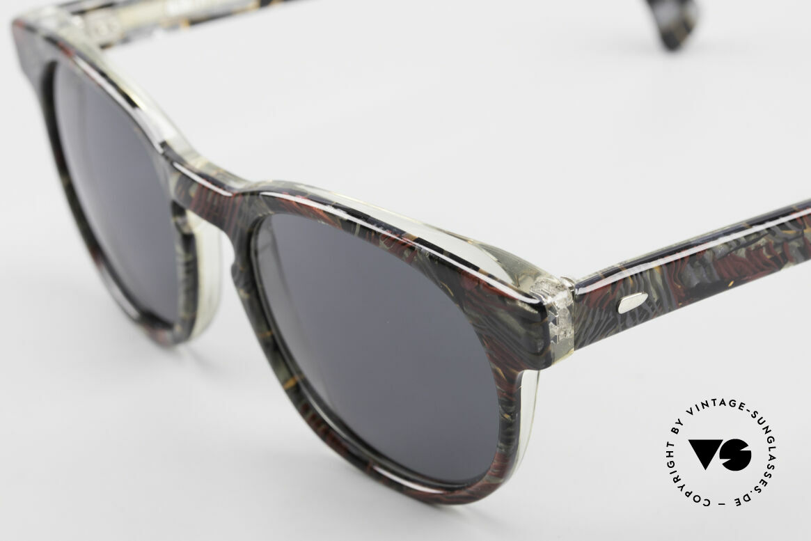 Alain Mikli 903 / 685 Panto Frame Gray Patterned, handmade quality (gray/red marbled), SMALL size, Made for Men and Women