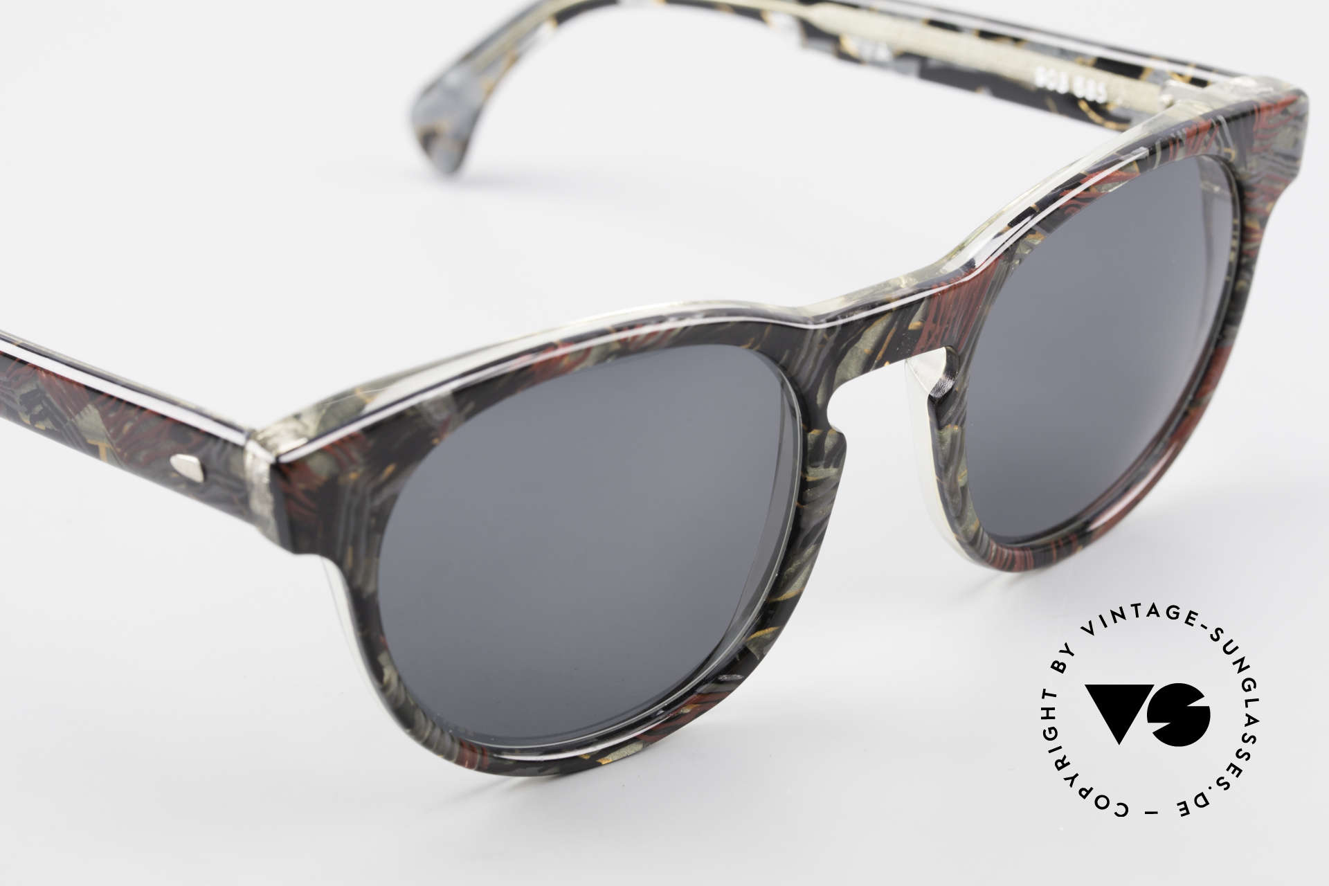 Alain Mikli 903 / 685 Panto Frame Gray Patterned, never worn (like all our vintage Alain Mikli specs), Made for Men and Women