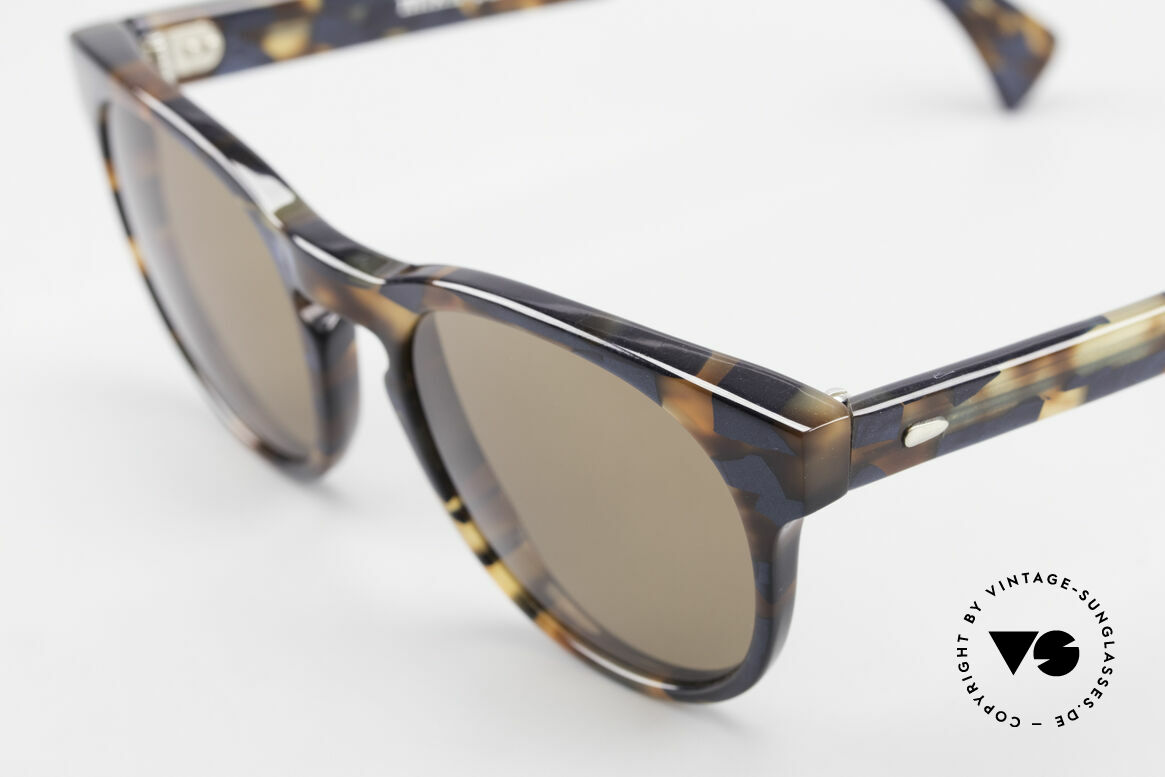 Alain Mikli 6903 / 622 XS Panto Frame Marbled Brown, handmade quality (brown/blue marbled), X-SMALL, Made for Men and Women