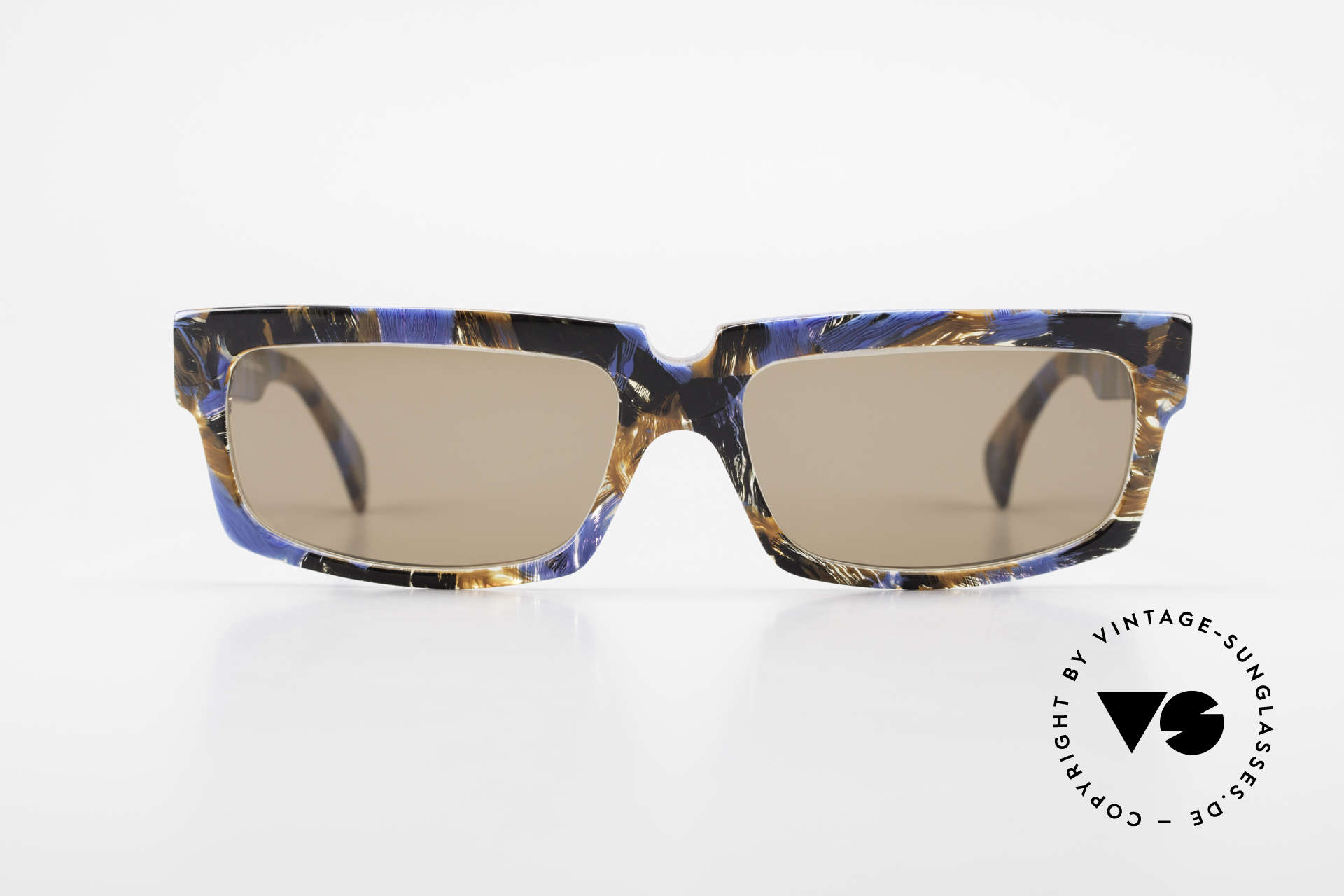 Alain Mikli 706 / 395 XL 80's Designer Sunglasses, 80's shades with very interesting design / coloring, Made for Men