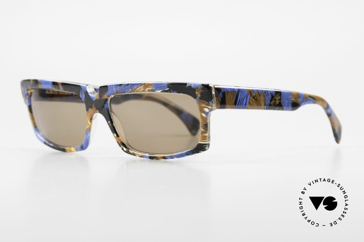 Alain Mikli 706 / 395 XL 80's Designer Sunglasses, frame looks crystal / blue / brown / black patterned, Made for Men
