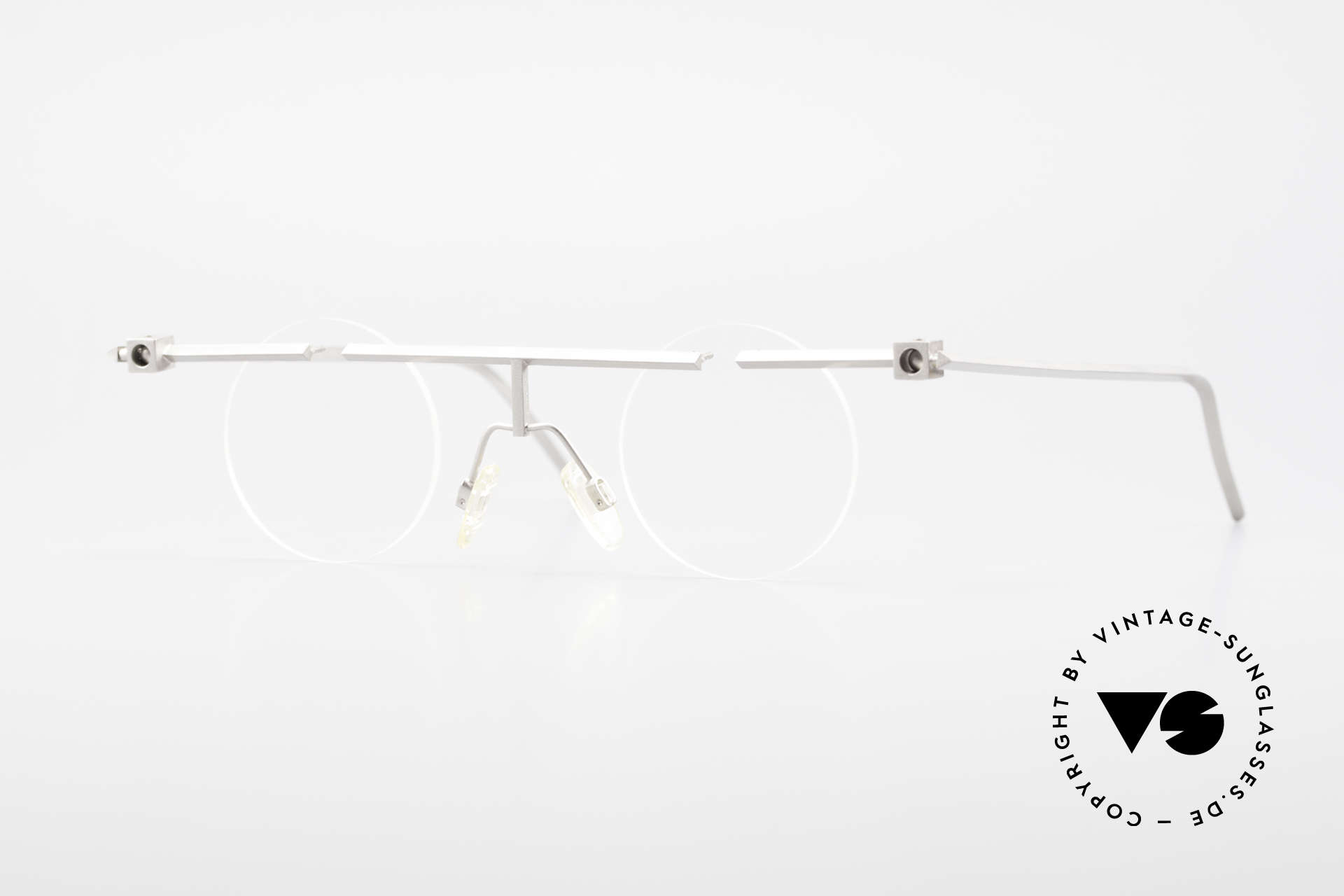 B. Angeletti Sammlerstück Bauhaus Frame Limited Edition, precious eyeglasses by Barbara ANGELETTI from 1993, Made for Men and Women