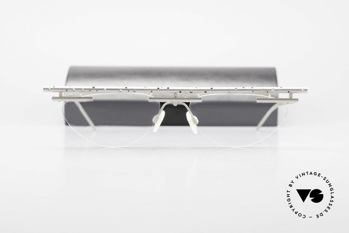 B. Angeletti Gazelle Vintage Architect's Glasses, true rarity, handmade, vertu, for all lovers of design, Made for Men and Women