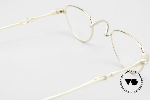 Lunor - Telescopic Extendable Reading Glasses, gold plated frame = a costly rarity; vertu, collector's item, Made for Men and Women