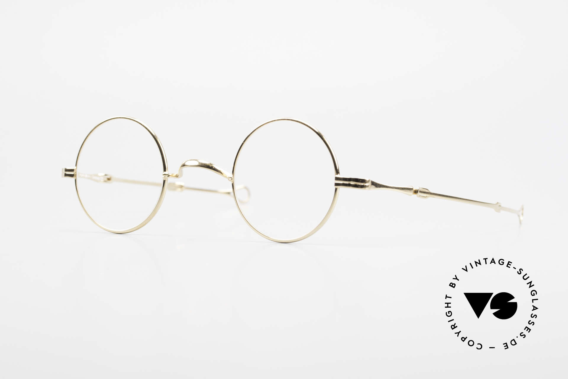 "Lunor I 12 Telescopic Extendable Vintage Frame, Lunor: shortcut for French ""Lunette d'Or"" (gold glasses), Made for Men and Women"