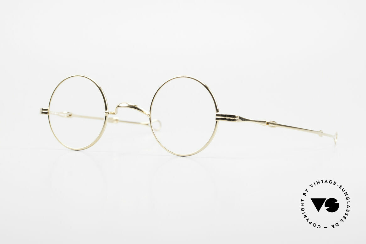 "Lunor - Telescopic Extendable Vintage Frame, Lunor: shortcut for French ""Lunette d'Or"" (gold glasses), Made for Men and Women"