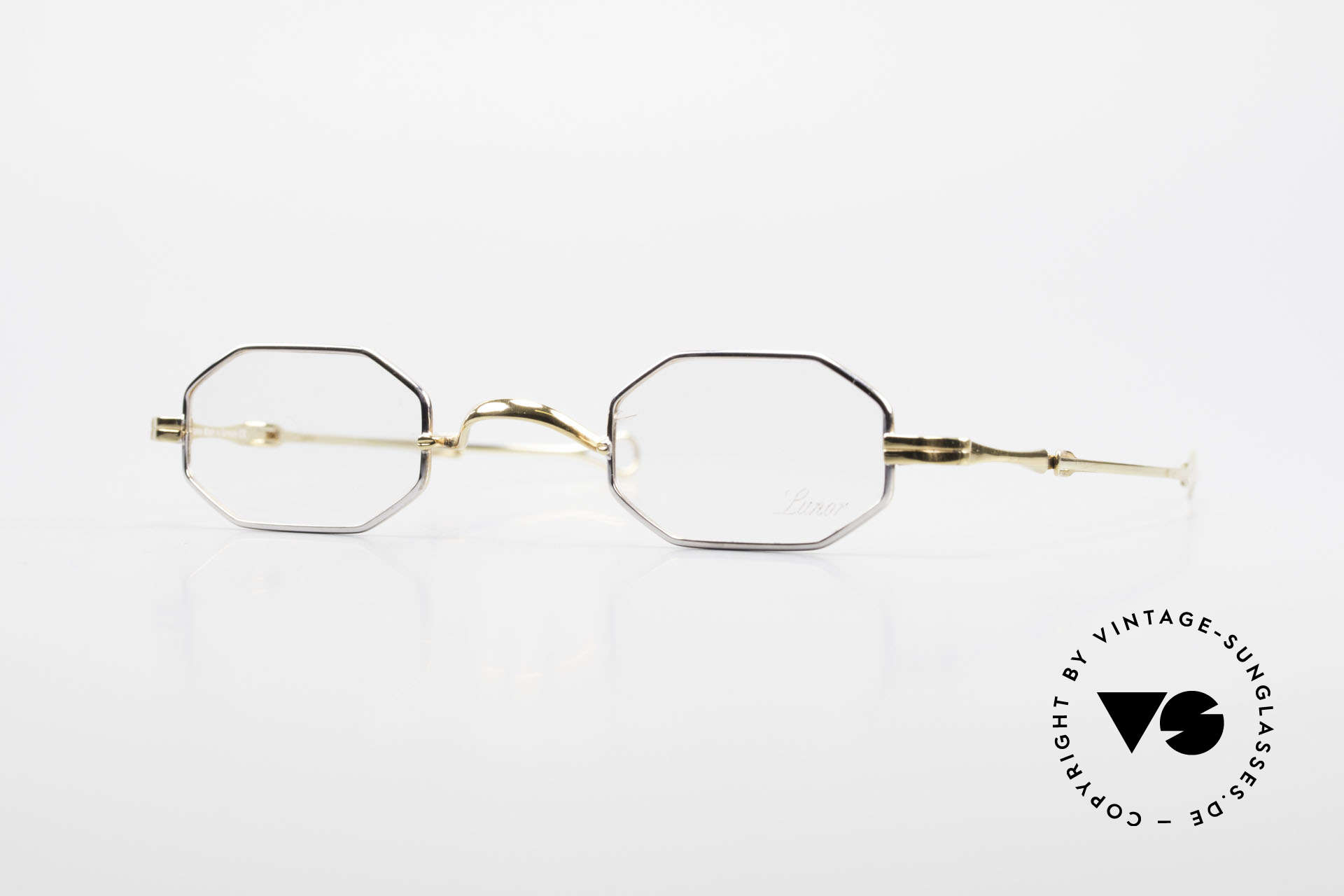"""Lunor I 01 Telescopic Extendable Octagonal Frame, Lunor: shortcut for French """"Lunette d'Or"""" (gold glasses), Made for Men and Women"""
