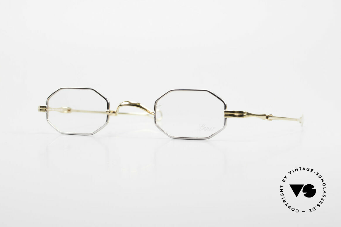 "Lunor - Telescopic Extendable Octagonal Frame, Lunor: shortcut for French ""Lunette d'Or"" (gold glasses), Made for Men and Women"