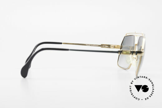 Cazal 734 80's West Germany Original, green-gradient sun lenses (for 100% UV protection), Made for Men