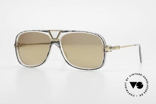 Cazal 635 Gold Mirrored Sun Lenses 80's Details
