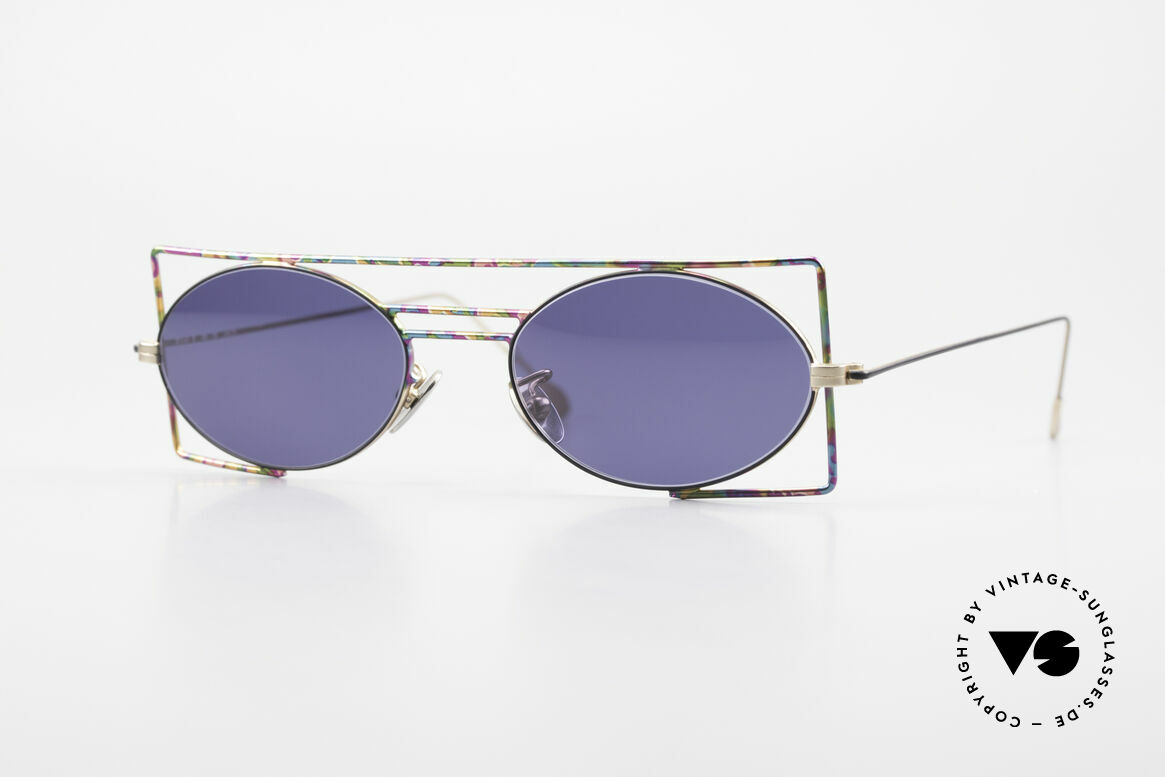IMAGO Steel 8 Colorful Vintage Sunglasses, IMAGO = eyewear designs with identity and personality, Made for Men and Women