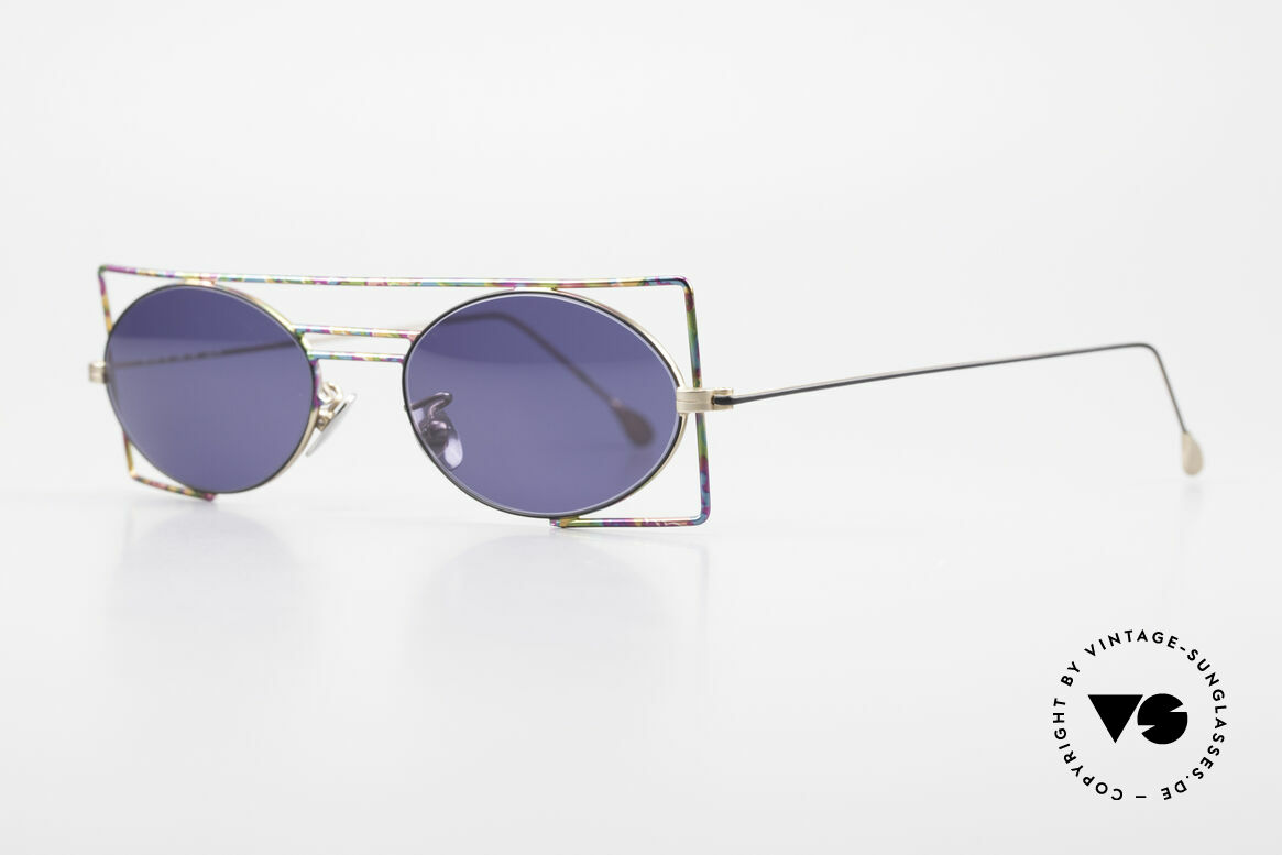 IMAGO Steel 8 Colorful Vintage Sunglasses, geometrical frame design; multicolored, TOP quality!, Made for Men and Women