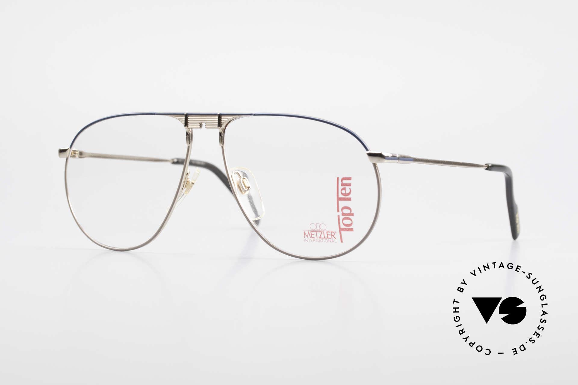 Metzler 0892 Aviator Frame Top Ten Series, delicate vintage eyeglasses for gentlemen by Metzler, Made for Men