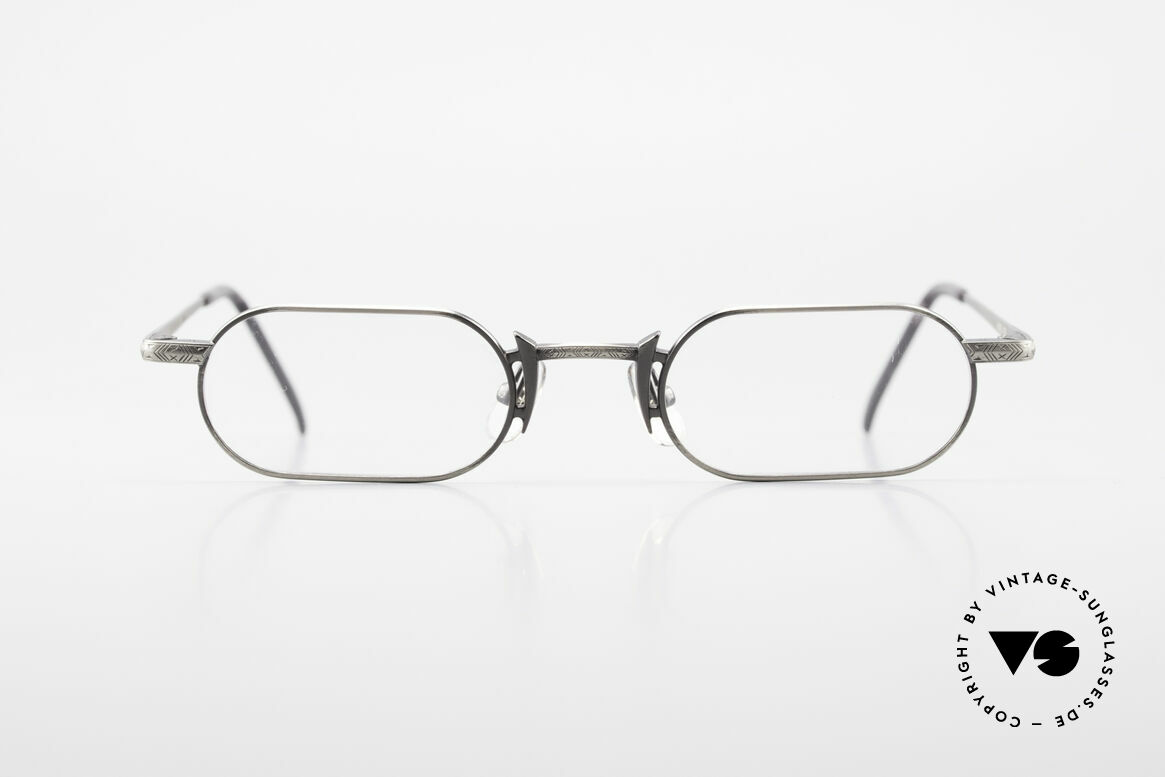 Freudenhaus Shige Square Metal Designer Frame, vintage designer glasses by FREUDENHAUS, Munich, Made for Men