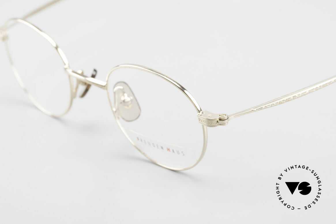 Freudenhaus Garland Small Round Designer Frame, timeless and sophisticated design; SMALL size 42/20, Made for Men and Women