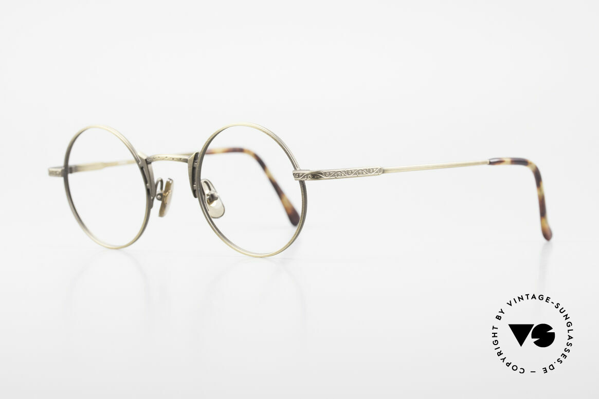 Freudenhaus Domo Round Designer Eyeglasses, great craftsmanship (frame with costly engravings), Made for Men