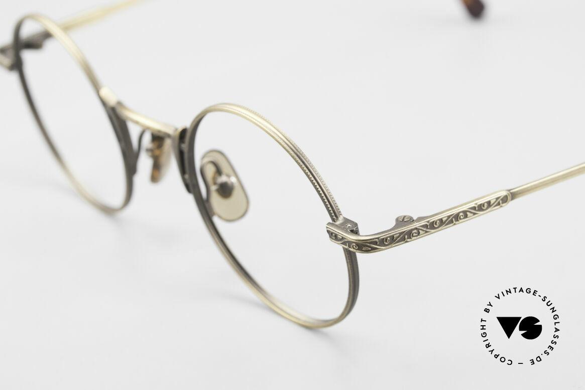 "Freudenhaus Domo Round Designer Eyeglasses, truly unique frame finish looks like ""antique brass"", Made for Men"