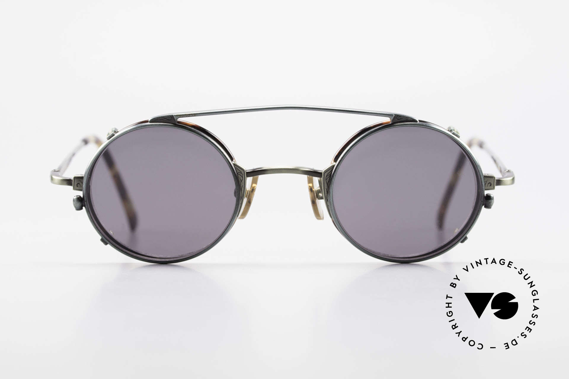 Freudenhaus Tori Small Round Frame Clip On, costly frame, top notch craftsmanship (from Japan), Made for Men and Women