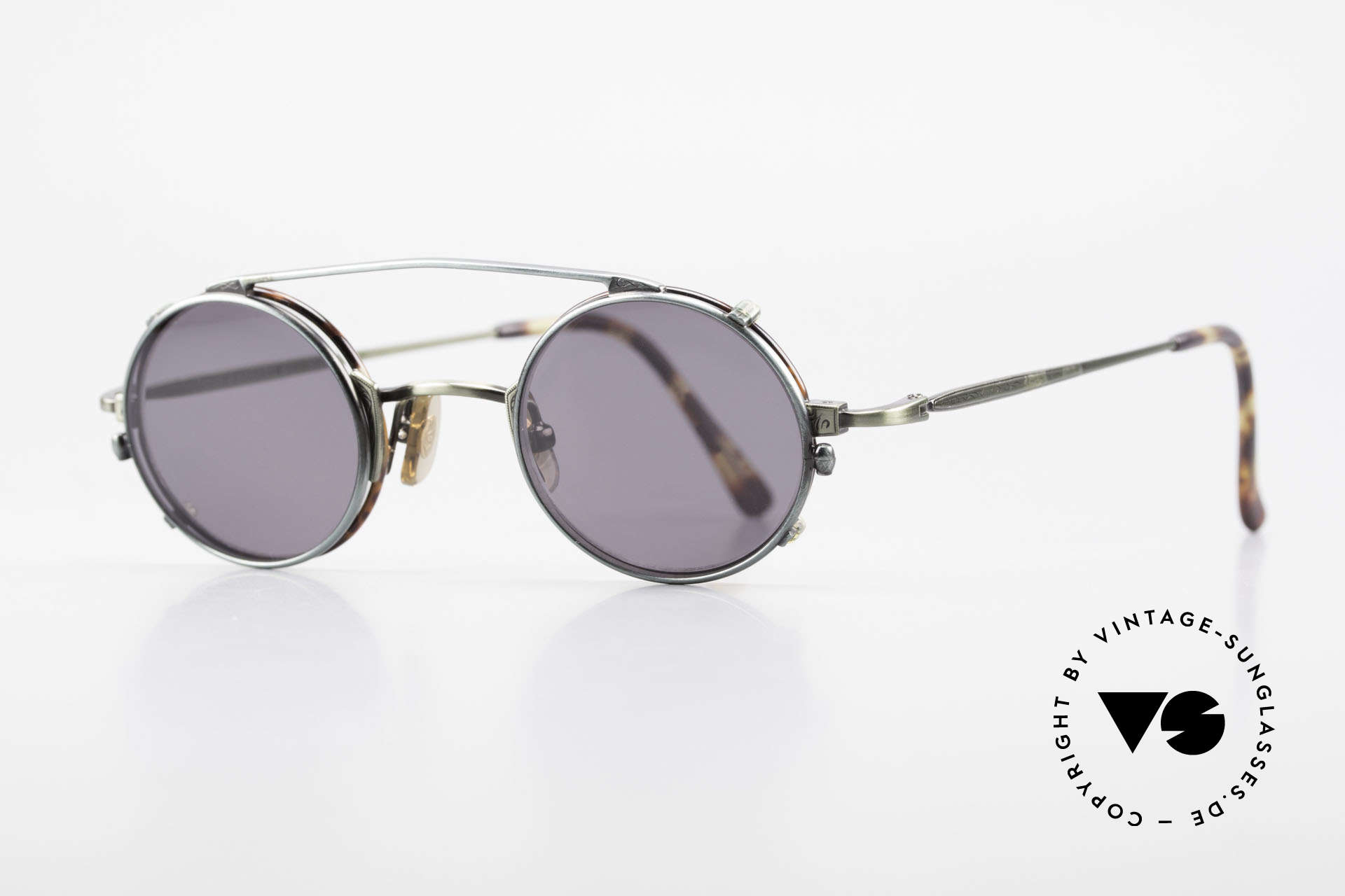 Freudenhaus Tori Small Round Frame Clip On, timeless and sophisticated design; extra SMALL size, Made for Men and Women
