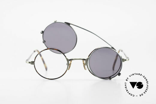 Freudenhaus Tori Small Round Frame Clip On, NO RETRO fashion, but an old Original from the 90's, Made for Men and Women