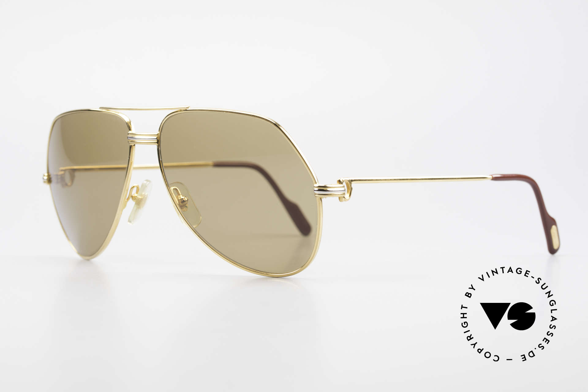 Cartier Vendome LC - L Original Cartier Mineral Lenses, 22ct gold-plated (with LC decor): LARGE size 62-14, 140, Made for Men