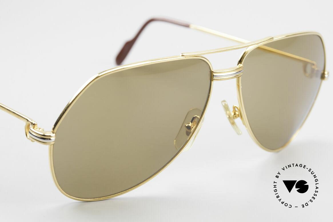 Cartier Vendome LC - L Original Cartier Mineral Lenses, ! BREATH on the sun lenses to make the logo VISIBLE !, Made for Men