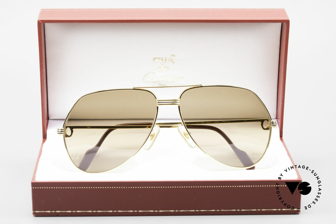 Cartier Vendome LC - L Original Cartier Mineral Lenses, lenses have TINY scratches (due to long-term stocking), Made for Men