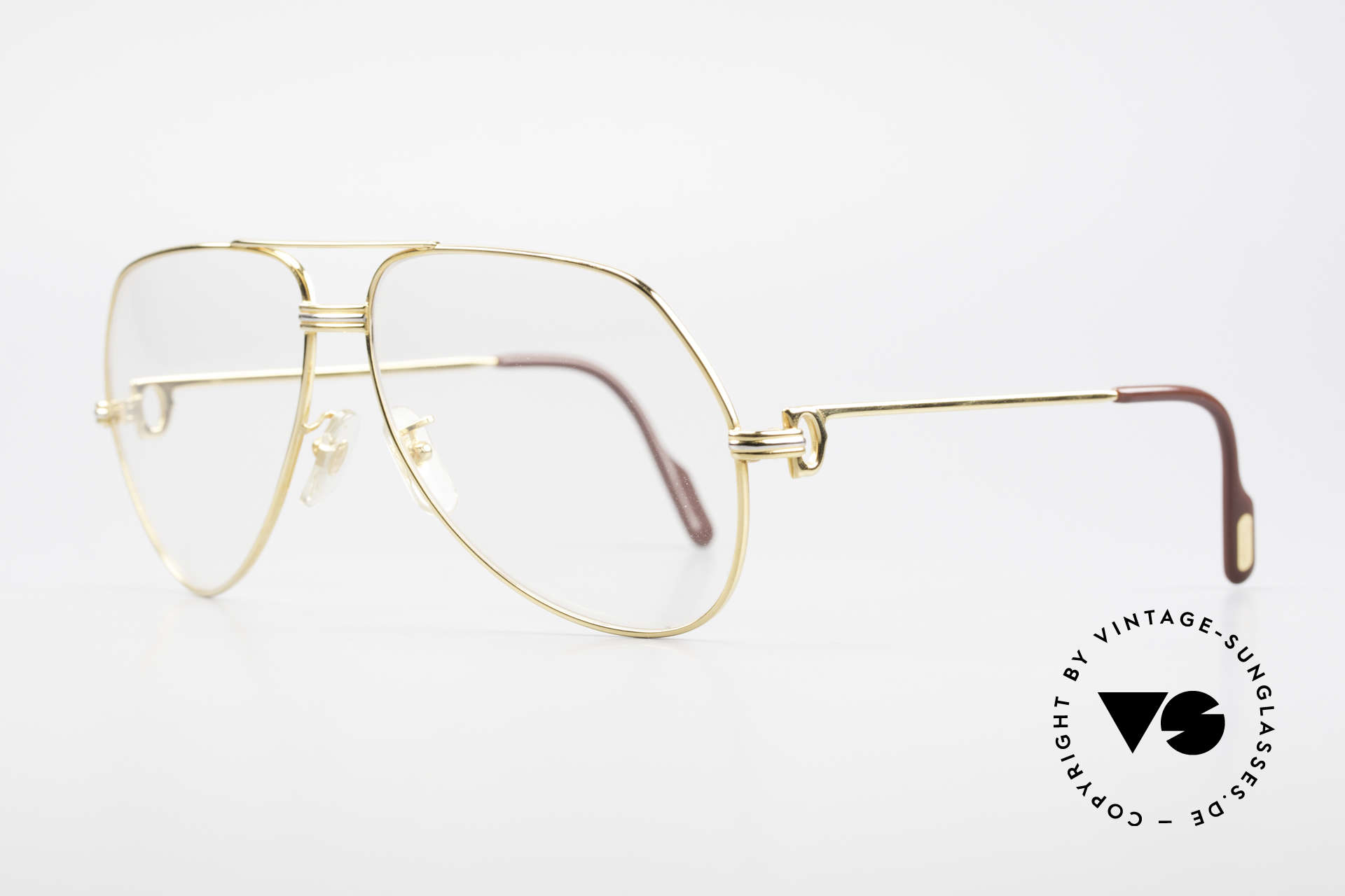 Cartier Vendome LC - L Changeable Cartier Sun Lenses, 22ct gold-plated (with LC decor): LARGE size 62-14, 140, Made for Men