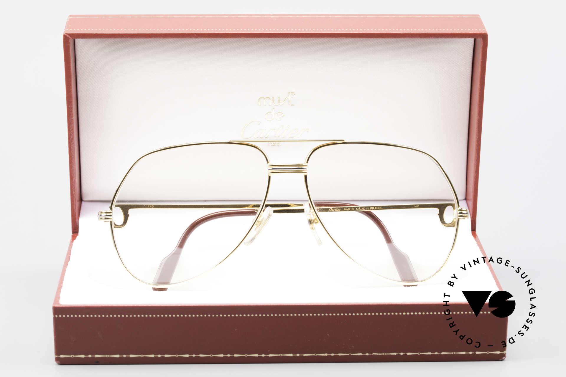 Cartier Vendome LC - L Changeable Cartier Sun Lenses, NO retro eyeglasses, but an authentic vintage ORIGINAL, Made for Men